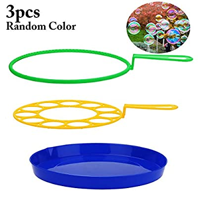 Coxeer 3PCS Bubble Wand Set 3 Types Creative Funny Bubble Making Outdoor Playing Toy for Outdoor: Toys & Games
