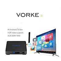 VORKE Z1 Android 7.1 Smart TV BOX Amlogic S912 16.1 4K VP9 60FPS HDR 3G DDR4/32G eMMC 802.11AC WIFI Gigabit LAN HDMI CEC DLNA Bluetooth