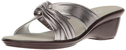 Onex Women's Carolyn Slide Sandal, Pewter, 10 M US by Onex