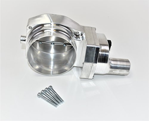 A-Team Performance 4-Bolt Throttle Body Drive By Wire Compatible With Chevrolet Chevy GM LSX LS LS1 LS2 LS3 LS6 LS7 102mm Intake Manifold Silver ()