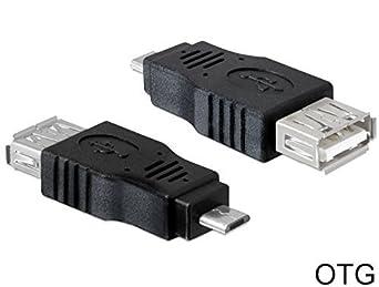 DeLOCK USB micro-B//USB 2.0-A OTG Nero