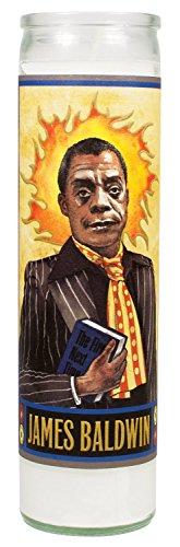 James Baldwin Secular Saint Candle - 8.5 Inch Glass Prayer Votive -  The Unemployed Philosophers Guild, 4734