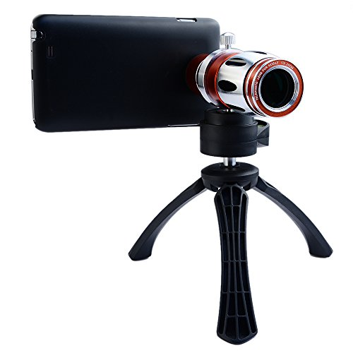Apexel 17x Optical Zoom Aluminum Telephoto Telescope Phone Camera Lens + High-end Tripod + Case for Samsung Galaxy Note 5