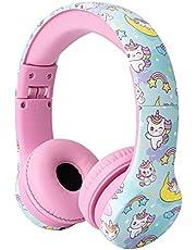 Snug Play+ hoofdtelefoon voor kinderen met volumebeperking voor peuters (jongens/meisjes) - eenhoorns