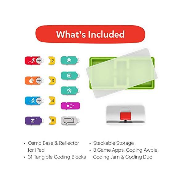 Osmo - Starter kit per iPad 3 giochi di apprendimento pratici - età 5-10+ - Imparare a codificare, codificare le basi e codificare puzzle - Base iPad inclusa, 901-00039 6 spesavip