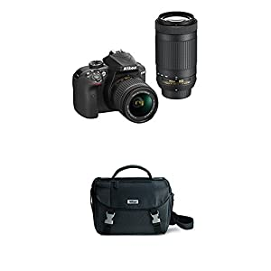 Nikon D3400 w/AF-P DX NIKKOR 18-55mm f/3.5-5.6G VR & AF-P DX NIKKOR 70-300mm f/4.5-6.3G ED (Black) w/Nikon DSLR Bag