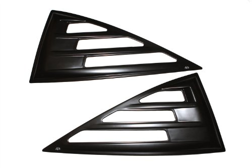 Auto Ventshade 97516 Aeroshade Louvered Window Covers, Smoke Finish for 1986-2007 Ford Ranger SuperCab, 1994-2006 Mazda B3000 & B4000, 1998-2001 Mazda B2500 with Extended Cab