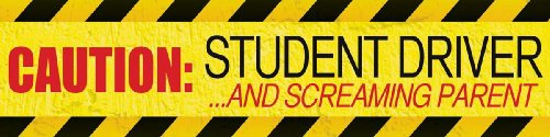 MagnaCard Magnetic Bumper Sticker 'Caution Student Driver and Screaming Parent', 12 x 3 x 0.1 inches (20038)