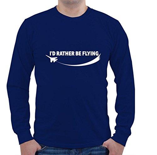 I'D RATHER BE FLYING Aviation Pilot Unisex Long Sleeve Shirt - Aviation Long Sleeve T-shirt