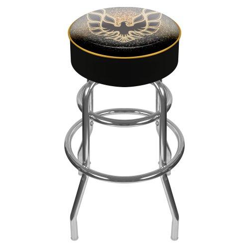 Pontiac Firebird Black Padded Swivel Bar Stool (Bar Stools Trademark)