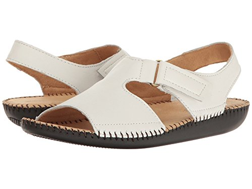 - Naturalizer Women Scout White Leather Flat Sandal 8.5