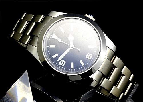 Tickwatch 39 mm svart urtavla automatisk mekanisk safir kristall rostfritt stål mekanisk klocka för män