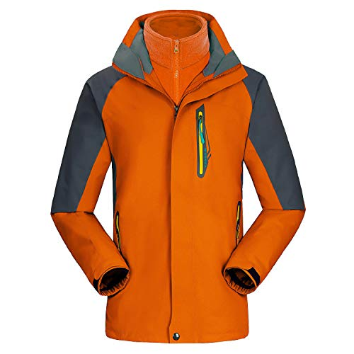 dcb321ff08 UINTA OUTERWEAR Mountain Ski Jacket (Removable Fleece Layer) (Orange
