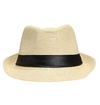 27fe5e4e115b4 Leisial Sombrero de Jazz Playa Paja Panama Estilo Británico Deporte ...