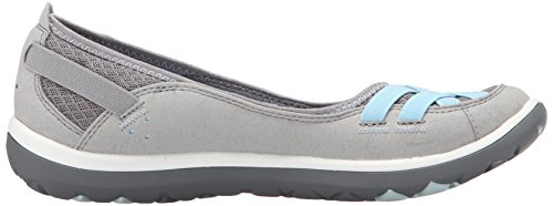 Grey Bomba Plana Clarks Aria Synthetic 1TYS7On