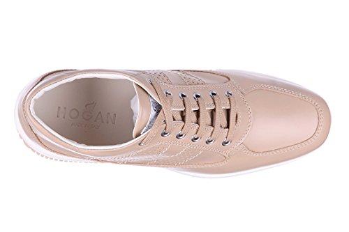 Hogan scarpe sneakers donna in pelle nuove interactive h bucata altraversione be