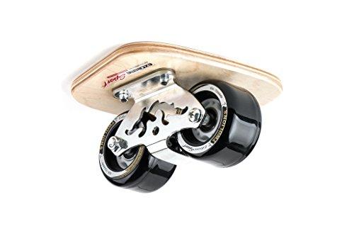 TwoLions Pro Skates - Drift skate,Steel-maple/Wood, PU Wheels With 608-Bearings-Cloud Totem (Black)