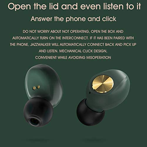 True Draadloze Binaural Hoofdtelefoon, Girls Bluetooth Koptelefoon Ingebouwde Cardioid Directionele Microfoon Realiseer Binaural HD Bellen [Volledig Compatibel],Green