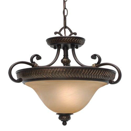 Golden Lighting 6029-SF EB Jefferson Convertible Semi-Flush, Etruscan Bronze Finish