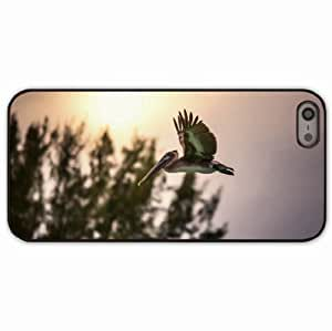 Case For Iphone 6 4.7 Inch Cover Black Hardshell Case sunset flying sky trees Desin Images Protector Back Cover