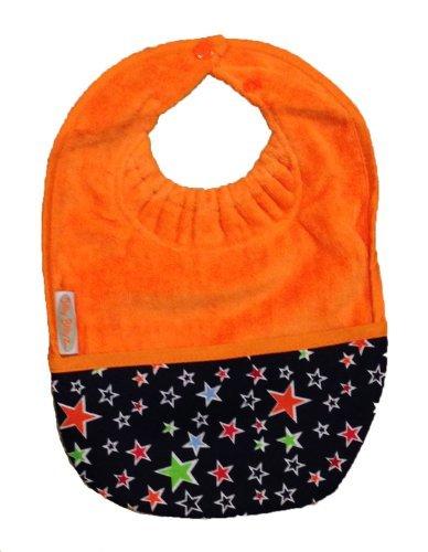 Nylon Bib - Silly Billyz Towel Pocket Bib, Orange, 3 mos - 3 Yrs