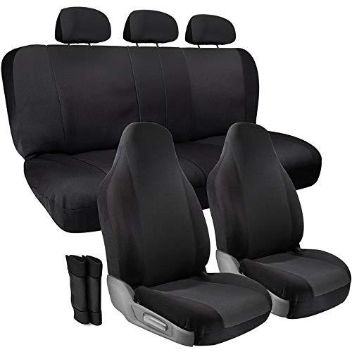 (Motorup America Auto Seat Cover Set - Mesh Grip Tech Full Set Covers Fits Select Vehicles Car Truck Van SUV - Newly Designed - Gray/Black)