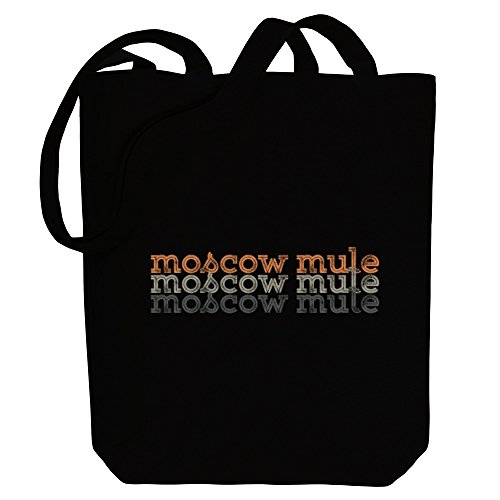 Idakoos Moscow repeat Tote Idakoos Mule Drinks Bag retro Moscow Canvas 5SETWwqq