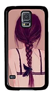 Black PC Case Cover for Samsung Galaxy S5 I9600,Hard Plastic Shell Case for Samsung Galaxy S5 I9600 Printed by Beautiful Back of Girl Kimberly Kurzendoerfer
