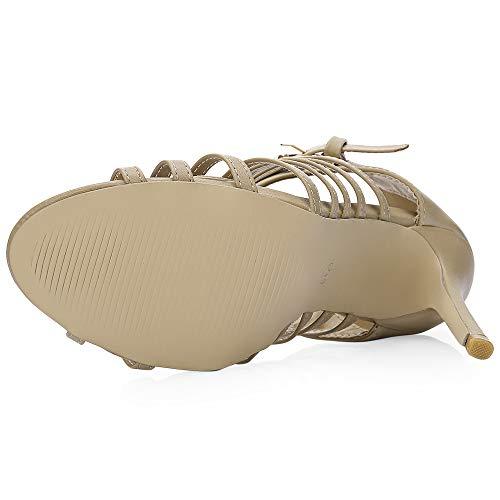 Été Chaussures Rosegal Femme Talon Sandale Abricot Haut Chaussure De 7ff1qwI