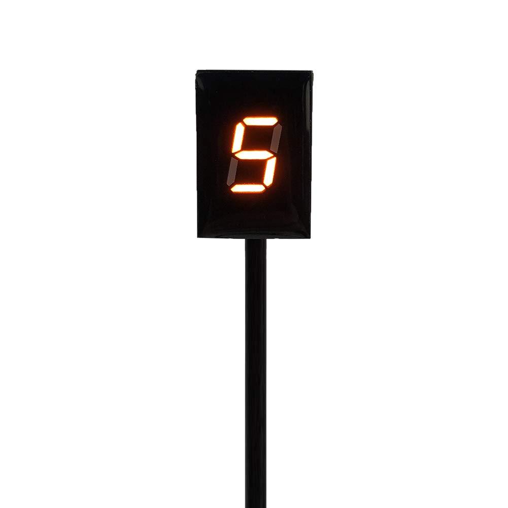 KIMISS Indicateur de Vitesse de Moto Affichage Num/érique /à DEL 6 vitesses rouge