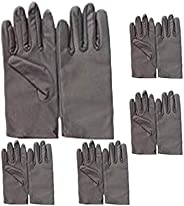 EOPER 5 Pairs Formal Satin Gloves for Women Wedding Evening Party Opera
