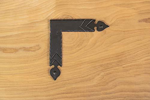 "5"" Spear Corner Bracket Brace For Barn Doors, Gates & Furniture Iron Hand Forged Black Finish"