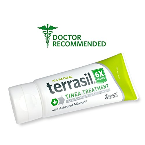 Terrasil® Tinea Treatment MAX - 6x Faster Relief, 100% Guaranteed, Patented All Natural Therapeutic Anti-fungal Ointment for Tinea Relieves itching, discoloration, irritation, discomfort - 50g