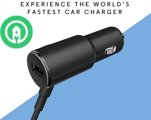 Turbo Fast Powered 25W Car Charger Works for ROKU Express+ with Extra USB Port and Long Hi-Power MicroUSB Cable!