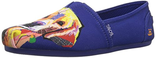 Skechers BOBS Women's BOBS Plush-Breeds Ballet Flat, Violet-Lovely Lab, 8 M US (Cute Dog Breeds)