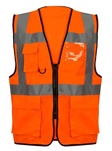 Orange X Tinta Cappotto large Unita Zip Style With black Uomo Riddled zq6AYW