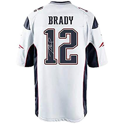 on sale d55dc b634f Tom Brady New England Patriots Signed Authentic White Jersey ...