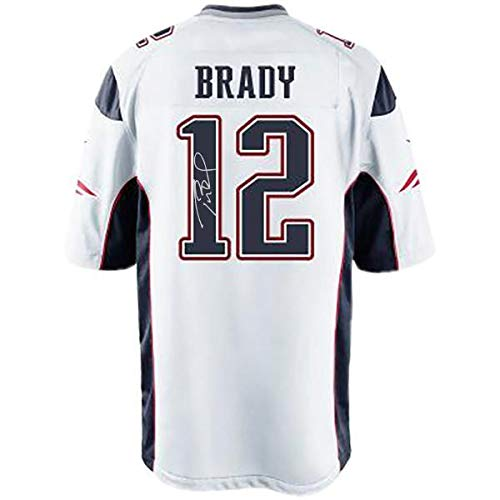 - Tom Brady New England Patriots Signed Authentic White Jersey - Steiner Sports Certified - Autographed NFL Jerseys