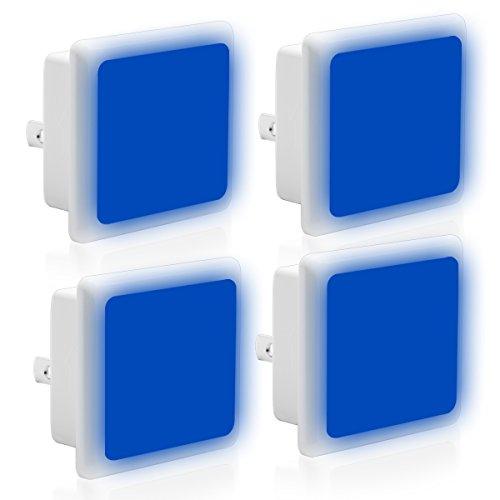 - LOHAS Blue Night Light Bulb LED, Dusk to Dawn Sensor, Plug in Nightlights, 0.3W, Auto on/Off LED Lamps for Kids, Nursery, Hallway, Bedroom(4 Pack)