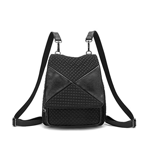 New Tide Female 2018 Bag Spinning Korean Nylon Stitching Hong Oxford Kong Rhombic Shoulder Backpack Canvas wq1URP0