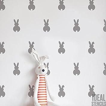 Kaninchen KANINCHEN Kinderzimmer Muster Schablone Home Kinderzimmer ...