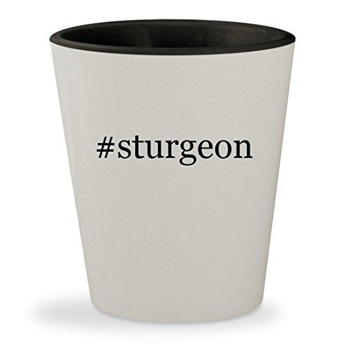 #sturgeon - Hashtag White Outer & Black Inner Ceramic 1.5oz Shot - Sturgeon Sunglasses