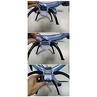 sea jump 3.7V 1200mAh upgrade Li-polymer Battery5pcs+ 1 Battery Charger for SYMA X5SC X5SW X5SC-1 RC Quadcopter Drone Replacement: Toys & Games
