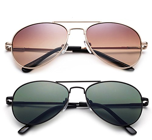 6a3e8545287b Newbee Fashion - Kyra Kids Popular Aviator Flash Mirrored Lead Free Fashion  Aviator Kids Sunglasses