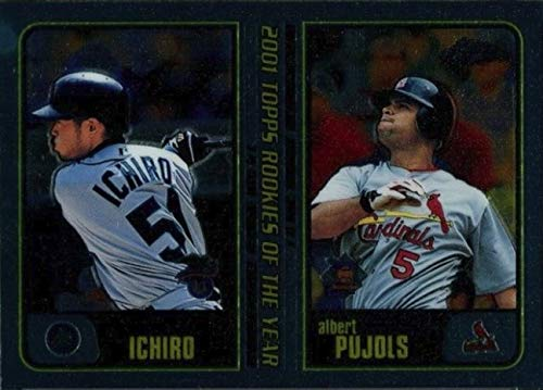 - 2001 Topps CHROME Traded & Rookies - ICHIRO Suzuki & Albert Pujols - Seattle Mariners Baseball Rookie Card RC #T99