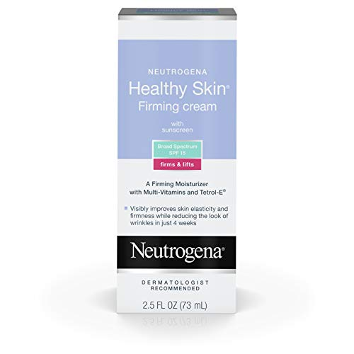 Neutrogena Healthy Skin Glycerin & Green Tea Firming Face Cream Moisturizer & Neck Cream with SPF 15 Sunscreen - Anti Wrinkle Cream, Face Moisturizer for Dry Skin & Neck Firming Cream, 2.5 fl. oz (Best Skin Firming Cream)