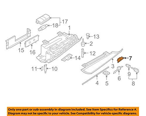 BMW Genuine Glove Box Latch Handle (Black) 51167063508