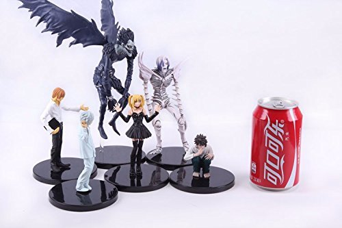 Anime-Death-Note-6-24cm-6pcsset-L-Killer-Ryuuku-Rem-Misa-Amane-PVC-Action-Figures-Toys