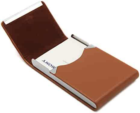 b2abb3422050 Business Card Holder - Name Card Case Holder with Magnetic Shut