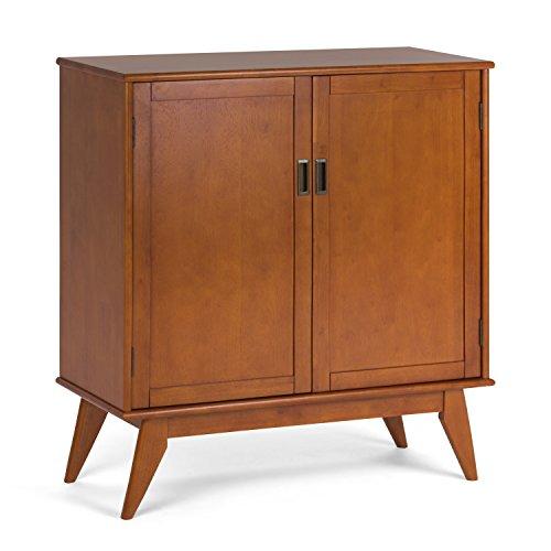 Simpli Home Draper Mid Century Medium Storage Cabinet, Teak